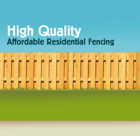 High quality, affordable residential fencing